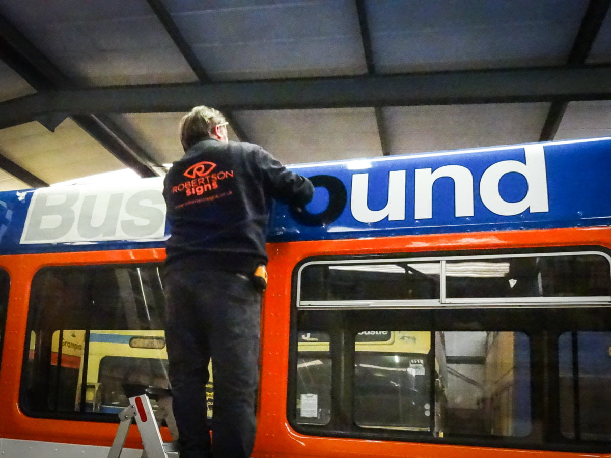 Bus lettering Dundee
