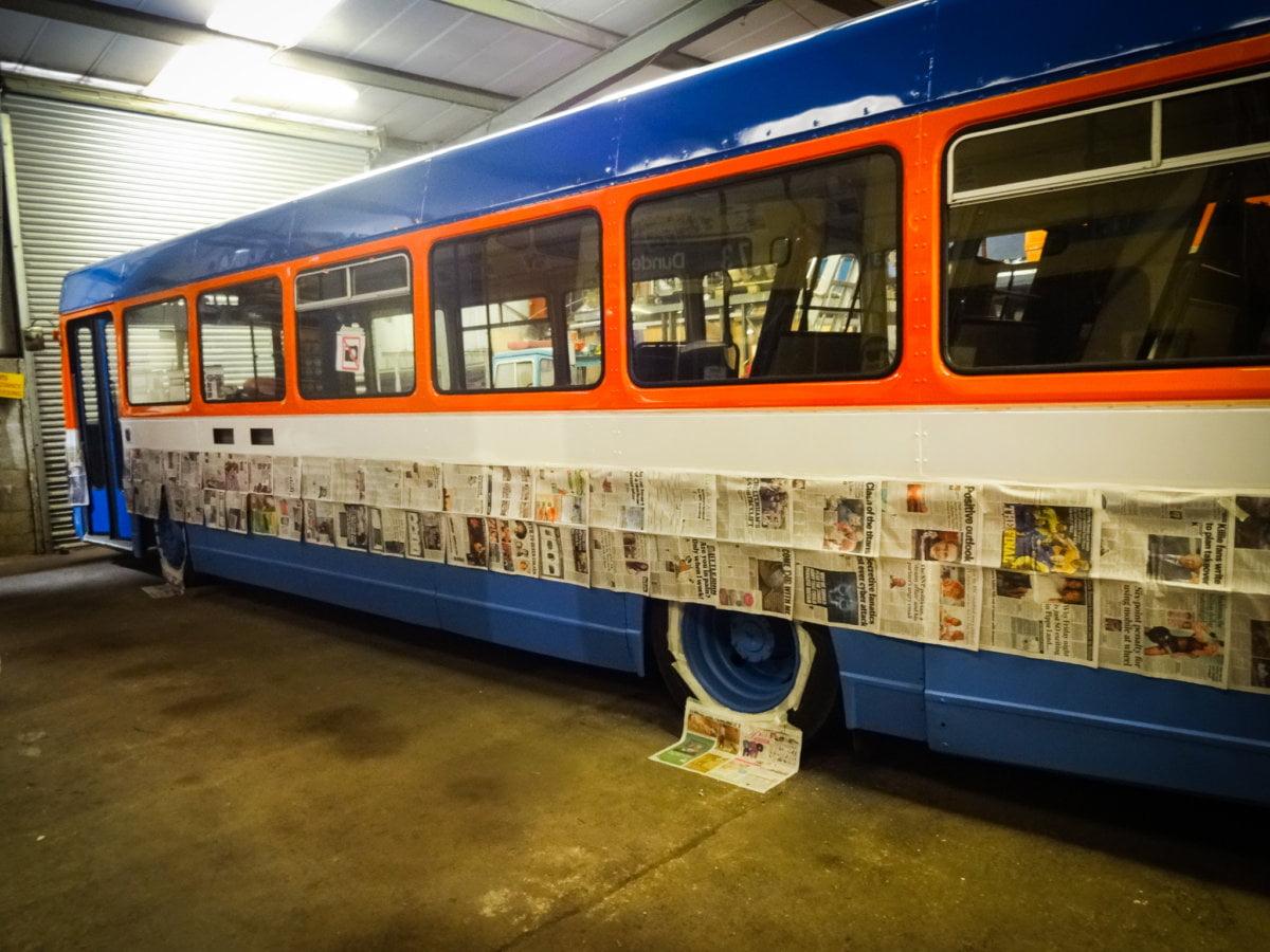 Bus painting restoration