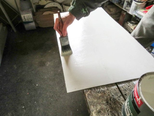 Sign panel painting by hand