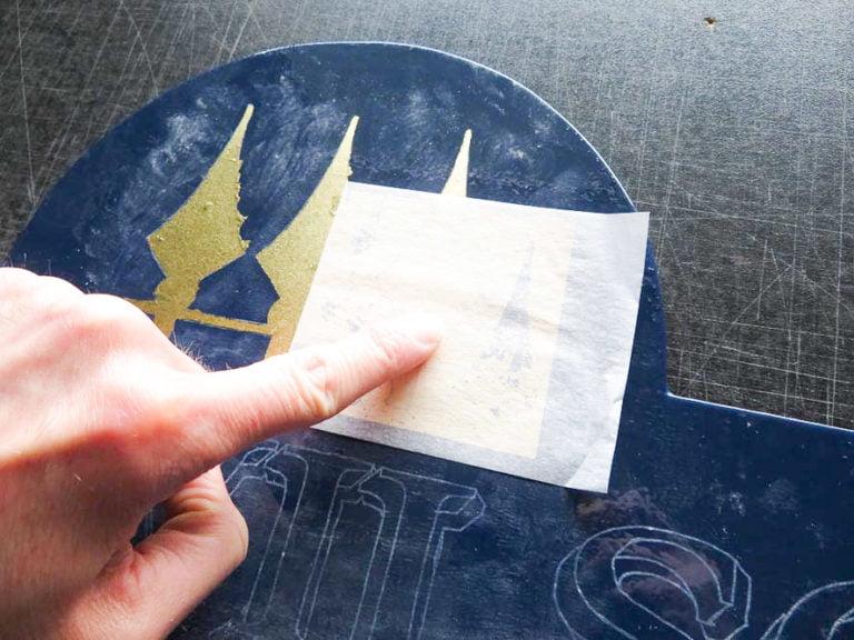 Gilded gold leaf signmaker