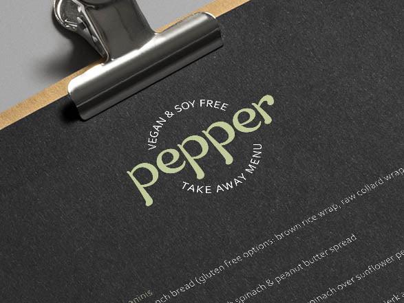 Custom lettering for a logo design