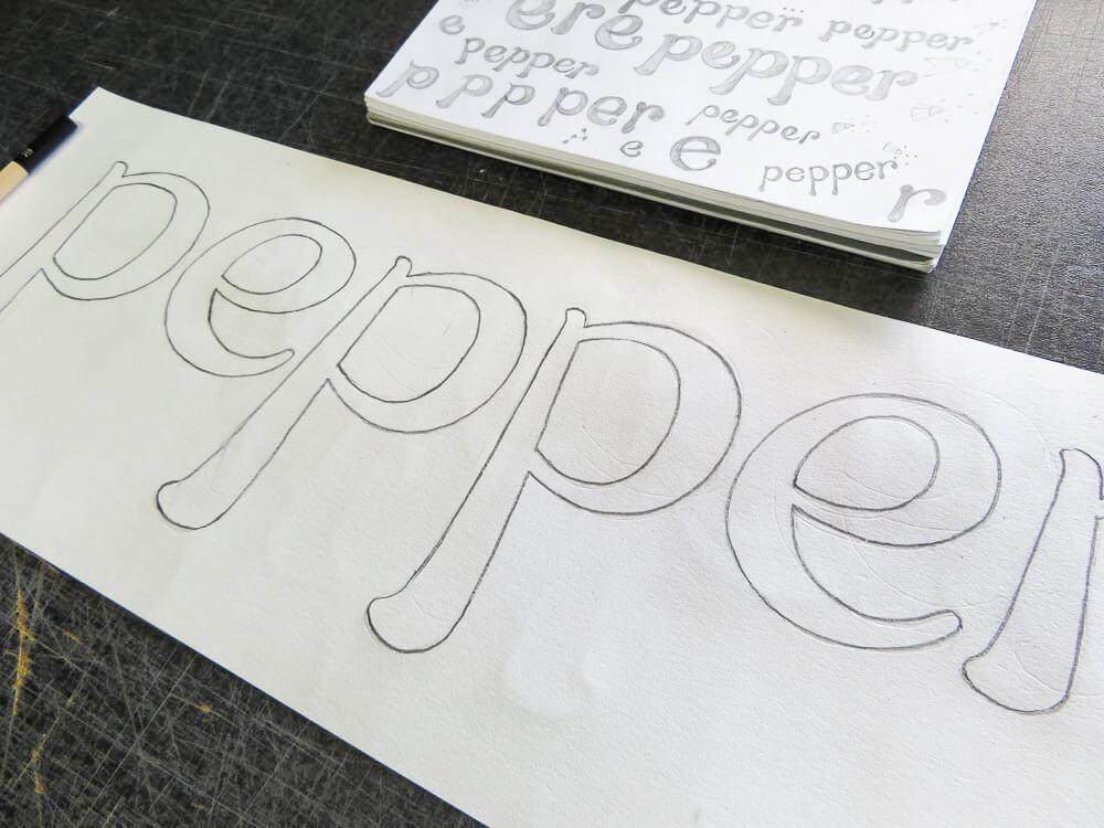 Drawing a pounce pattern