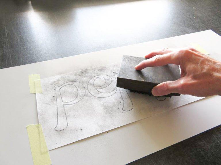using a pounce pad on a pounce pattern