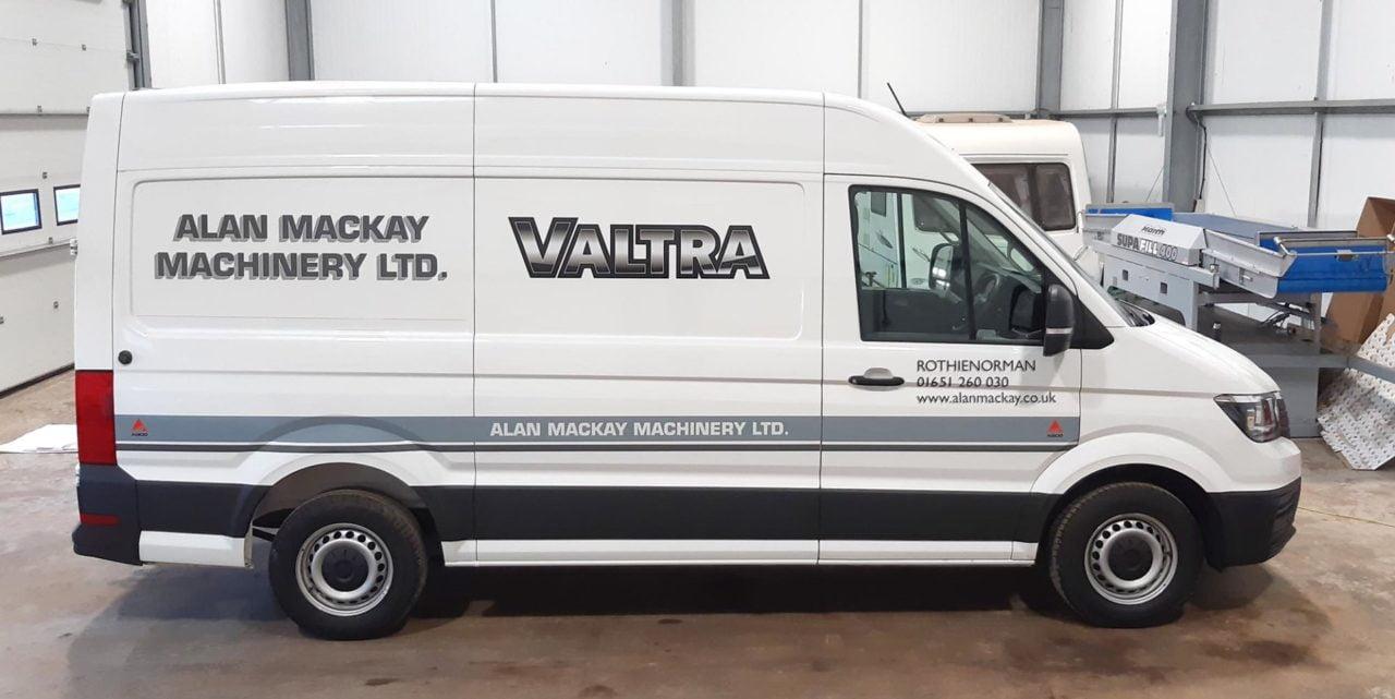 Van lettering in Forfar