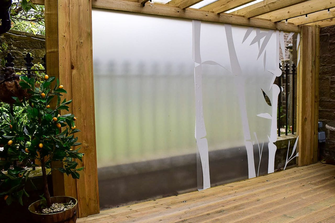 Etched window film in Dundee