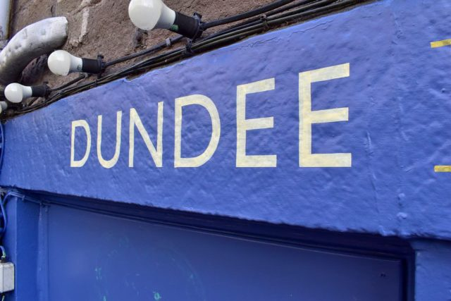 Hand lettering for shops in Dundee